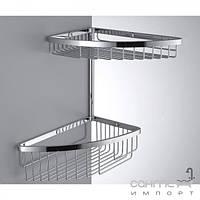 Аксессуары для ванной комнаты Colombo Design Полочка-решётка угловая двойная Colombo Complementi B9609