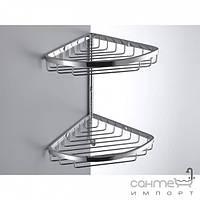 Аксессуары для ванной комнаты Colombo Design Полочка-решётка угловая двойная с крючком Colombo Complementi B9604