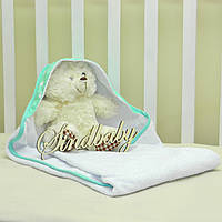 Детское махровое полотенце с уголком - 02