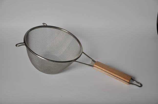 Дуршлаг с деревянной ручкой ( Маленький ), фото 2