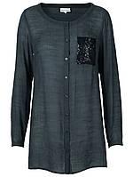 Блуза рубашка черного цвета Carabell от Peppercorn (Дания) в размере M