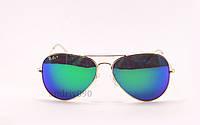Cолнцезащитные очки Ray Ban Aviator поляризованные с\з золотоая оправа