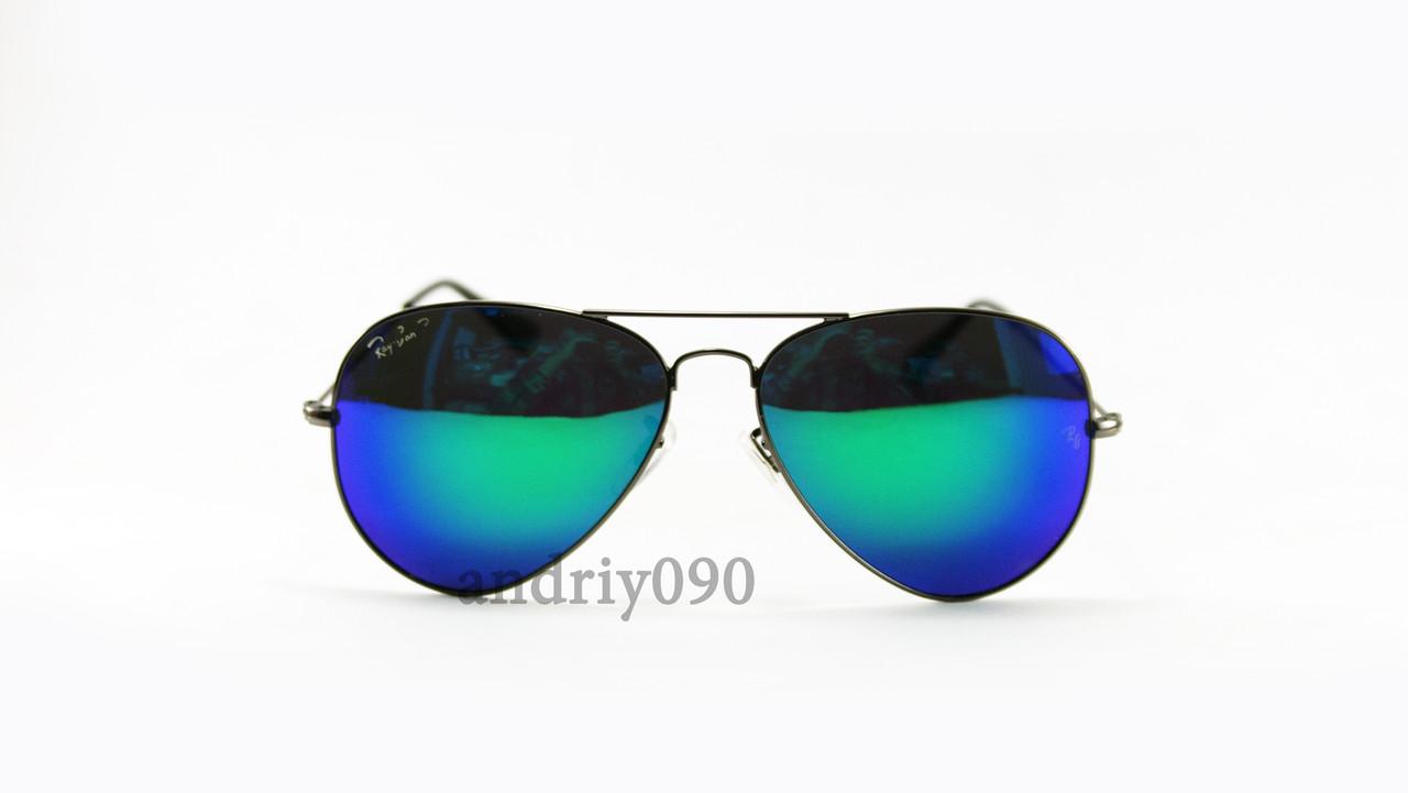 Cолнцезащитные очки Ray Ban Aviator поляризованные с\з черная оправа