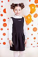 Черное школьное платье девочке. Размер 122