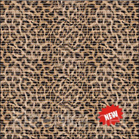 Килимок для кухні, коридору, ванної кімнати Леопард, ширина 65
