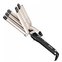 Щипцы для завивки волос волнами Gemei GM 2933, керамическое покрытие, терморегулятор