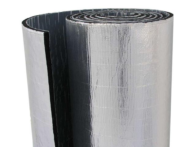 Листовой синтетический каучук с самоклеющимся слоем ламинированный алюминиевой фольгой