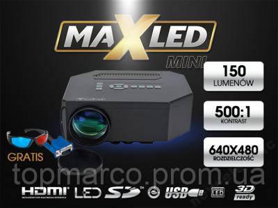 Мультимедійний проектор LED HDMI USB XB!!Супер !!