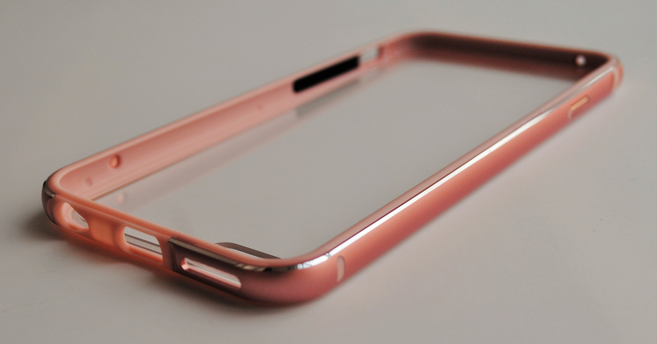Чехол Бампер на Айфон 6/6s Evoque Металл и Пластик Розовое золото + Защитное Стекло