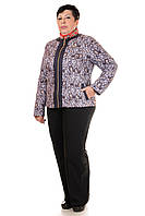 Демисезонная женская куртка в больших размерах 3 цвета Юля