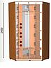 Шкаф-купе (3 фасада) высота 2400, глубина 600, ширина на выбор