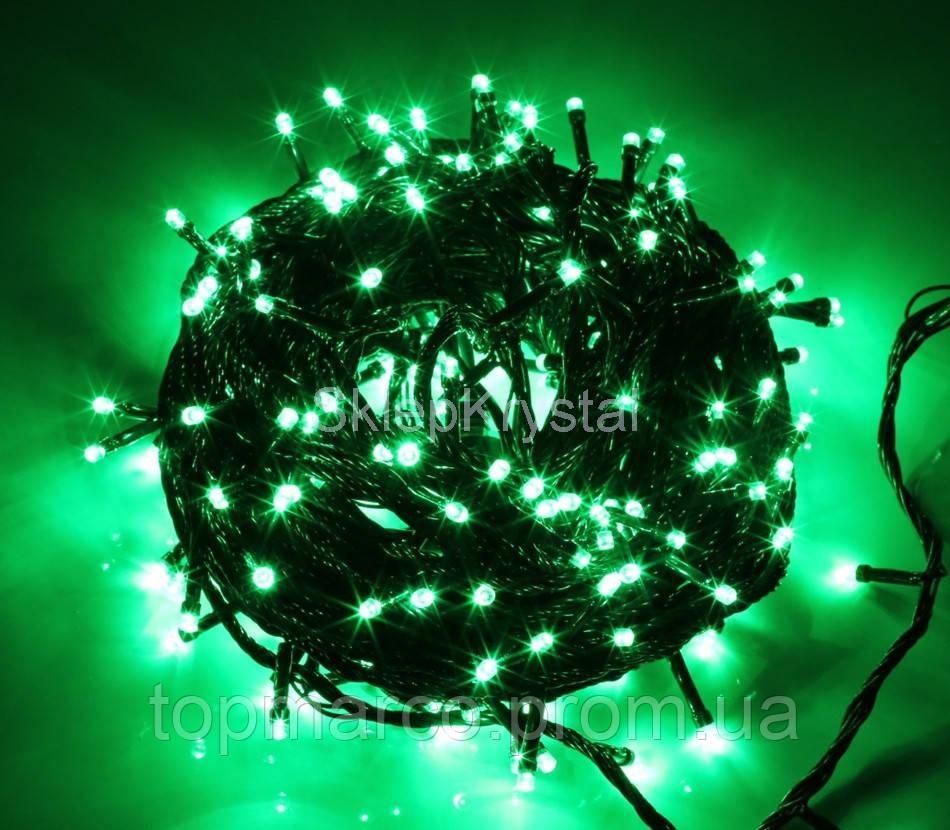 Гирлянда новорічна 300LED 22м зелений