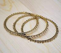 Браслет кольцо из латуни с белым бисером