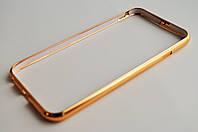 Чехол Бампер на Айфон 6/6s Cross case Металл защелка сверху Золото