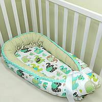 Гнездышко кокон-позиционер для новорожденного BabyNest - 02
