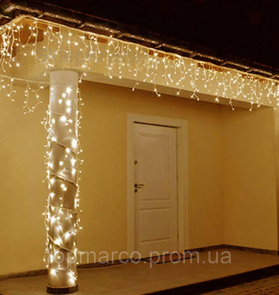 Новорічна гирлянда 300 LED колір Білий теплий