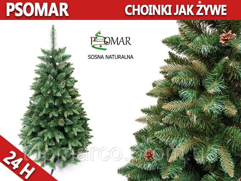Елка-сосна как натуральная с шишками 220 см-24 Н