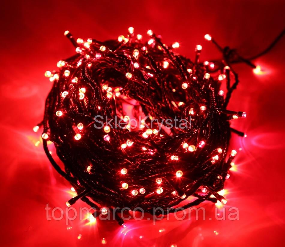 Гирлянда новорічна 300LED 22м  червоний