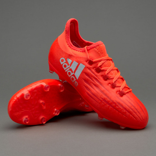 Детские футбольные бутсы adidas X 16.1 Kids FG Solar Red/Silver Metallic/Hi-Res Red
