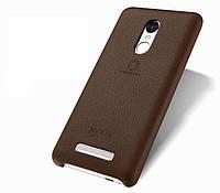 """Чехол накладка для Xiaomi Redmi Note 3 pro SE Special Edition  """"Lenuo"""" коричневая кожаная"""