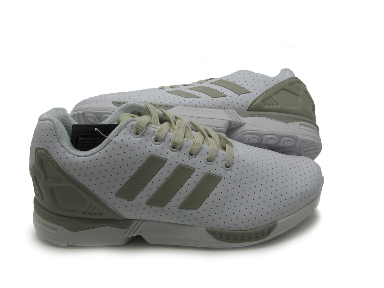 Мужские кроссовки Adidas ZX Flux кожа Белый