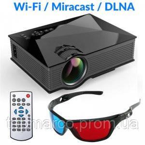ПРОЕКТОР UC46 Miracast DLNA WIFI + 3D окуляри!!