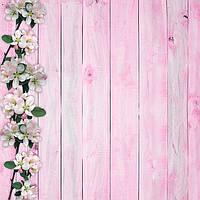 Фотофон Весна розовый размер 60*60 см