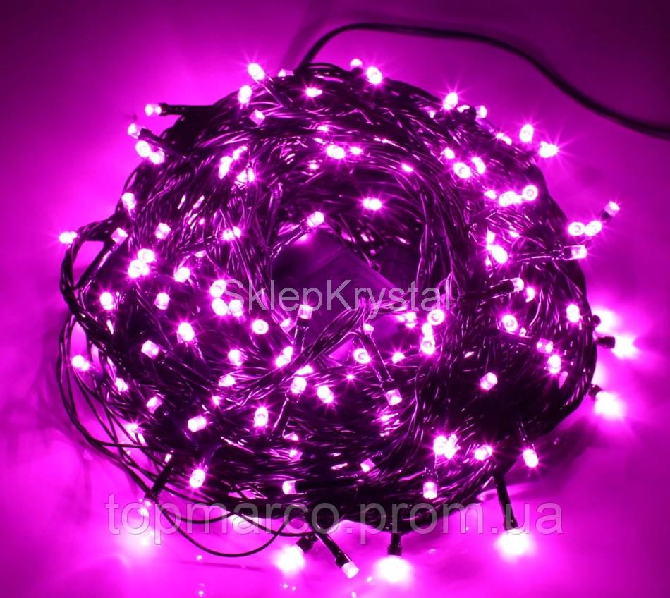 Гирлянда новорічна 300LED 22м  рожевий