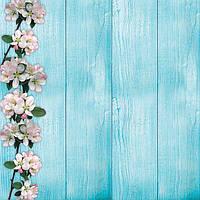 Фотофон Весна голубой размер 60*60 см