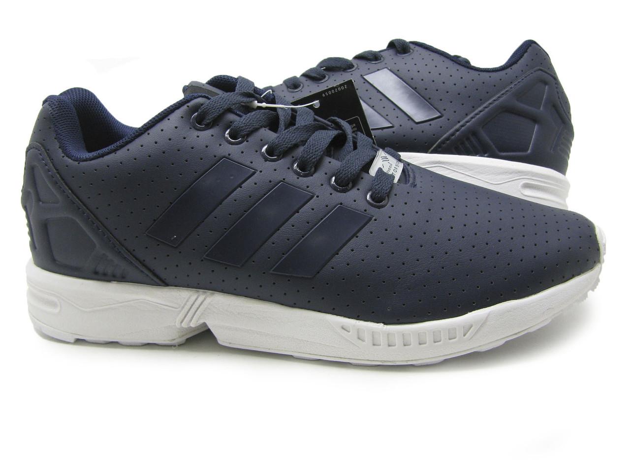 Мужские кроссовки Adidas ZX Flux кожа Синий