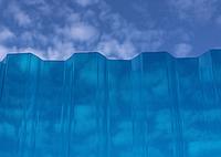 Шифер Пластиковый Salux (Салюкс) (1,8*0,9) трапеция голубой, фото 1