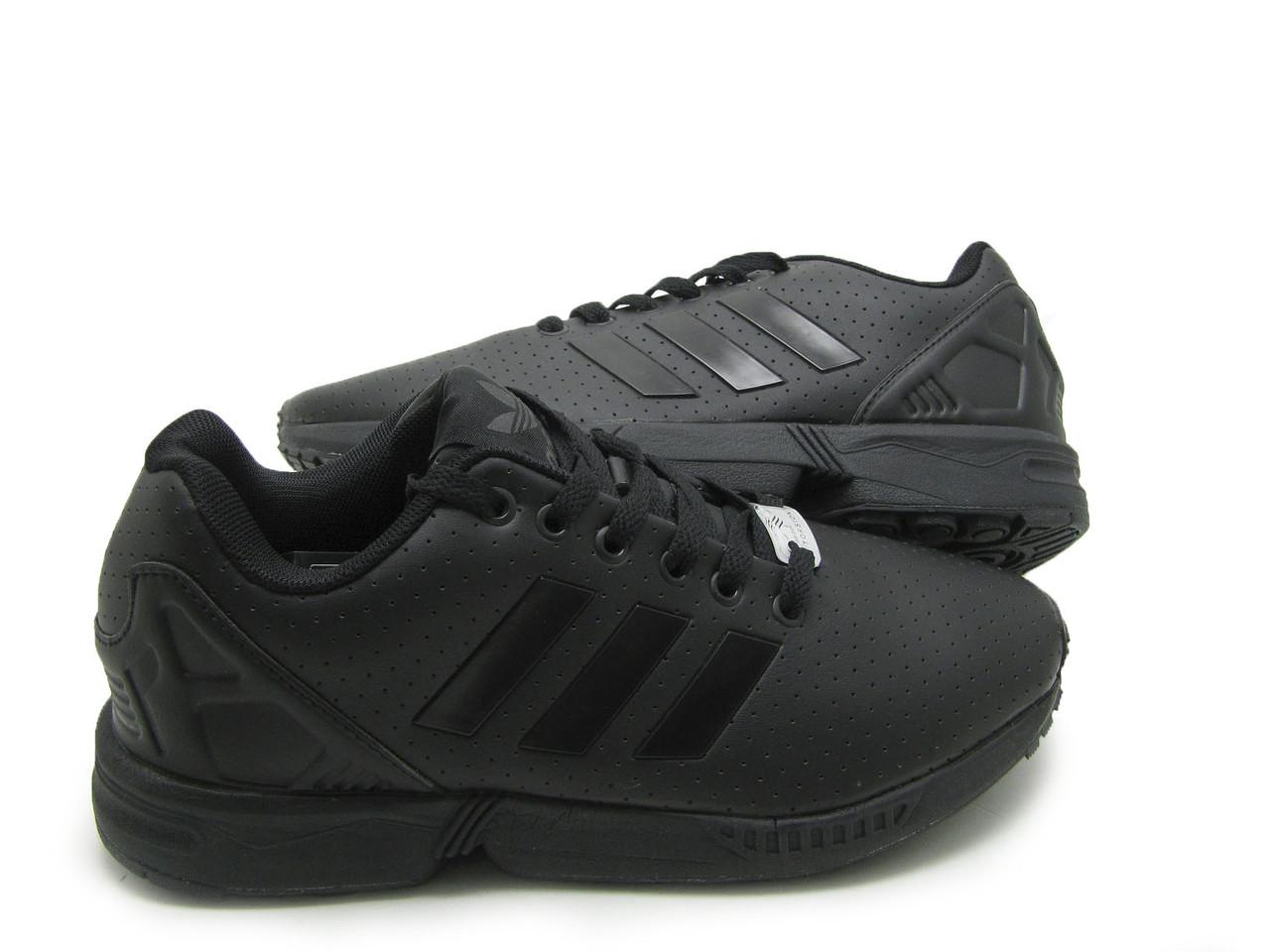 Мужские кроссовки Adidas ZX Flux кожа Черный
