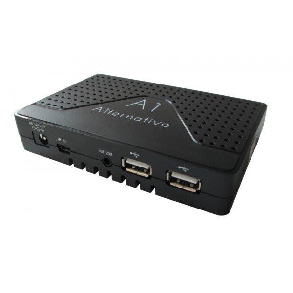 Спутниковый ресивер U2C A1ternativa Full HD с функцией IPTV и медиаплеера.
