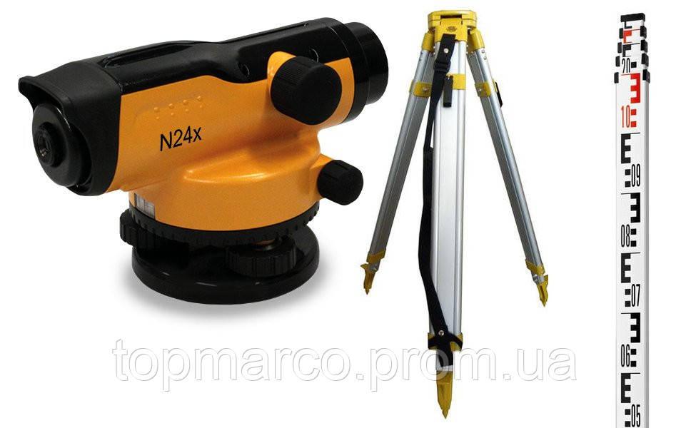 N24X - нивелир оптический + штатив