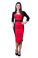 Женское платье Анна праздничное, вечернее, нарядное размеры 42, 44, 46, 48, 50, 52, 54, 56 красного цвета