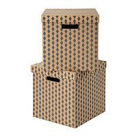 """ИКЕА """"TRYCK"""" Коробка с крышкой, 33x37x33 см"""