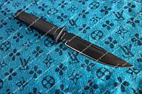 Нож тактический  с упором, и антибликовым покрытием