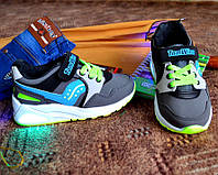 Детские кросовки светящейся подошвой Кроссовки со световыми эффектами