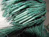 Сеть рыболовная  (одностенная, вшитый груз, белая)  100х1.8 м ячейка 60 (ДЛЯ ПРОМЫШЛЕННОГО ЛОВА)