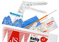 Набор гинекологический JS № 7 (Пеленка 60*50, перчатки(M), щеточка эндоцерв.)