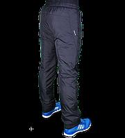 мужские брюки  плащевка на флисе