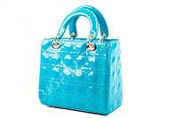 Лаковая сумка  Dior высокого качества синяя