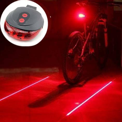 Велосипедная мигалка задняя с лазерной подсветкой N1003