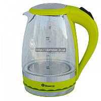 Чайник Domotec DТ-701-702 (2000Вт, 2л., стекло, цветные)
