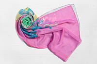 Шифоновый шарф Вильена Букет, серый/розовый