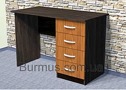 Вместительный письменный стол на четыре выдвижных ящика Школьник-4