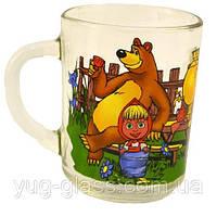 """Кружка 240 мл стеклянная 11с 1566 """"Маша и медведь"""" 1 шт."""