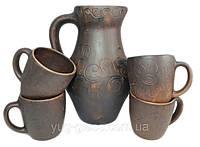 """Набор 5 предметный кувшин с чашки """"Капелька""""."""