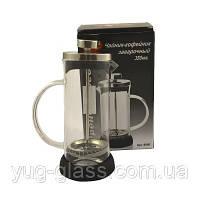 """Заварочный стеклянный чайник френч-пресс 350 мл """"6050"""" 1 шт."""