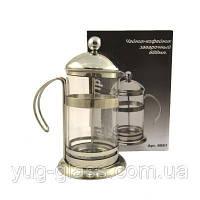 """Заварочный стеклянный чайник френч-пресс 600 мл """"6061"""" 1 шт."""
